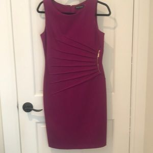 Ivanka Trump side detail sleeveless dress